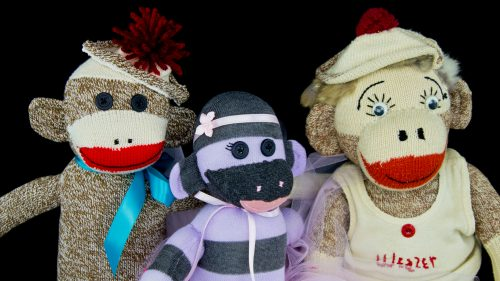 Classic Sock Monkey And Friends