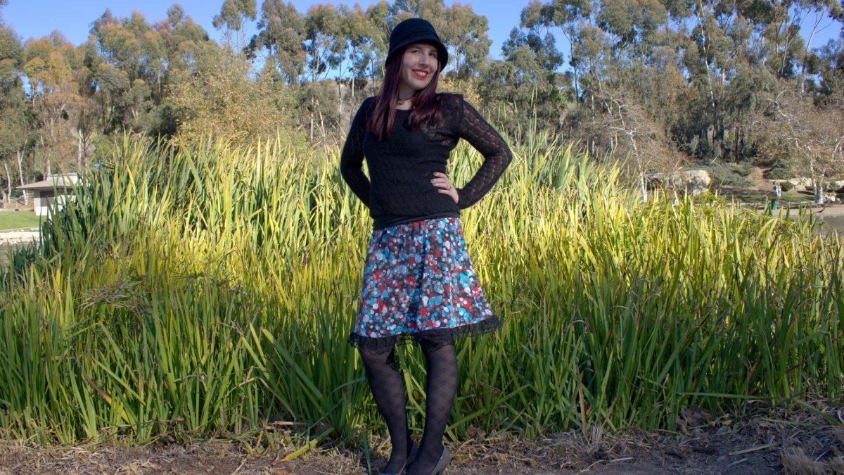 A Line Skirt Pattern Standing