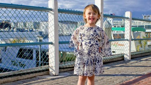 McCalls Pattern 6690 Girls Pullover Dress Fence