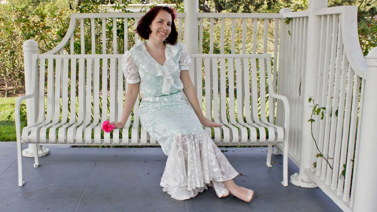 Rose Garden Dress - Butterick Pattern 5879 - Bench