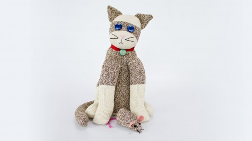 Sock Cat With Mouse