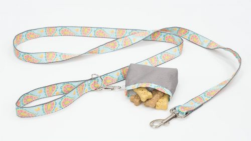 Dog Leash and Treat Bag