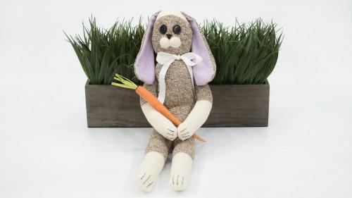 Sock Rabbit Sitting