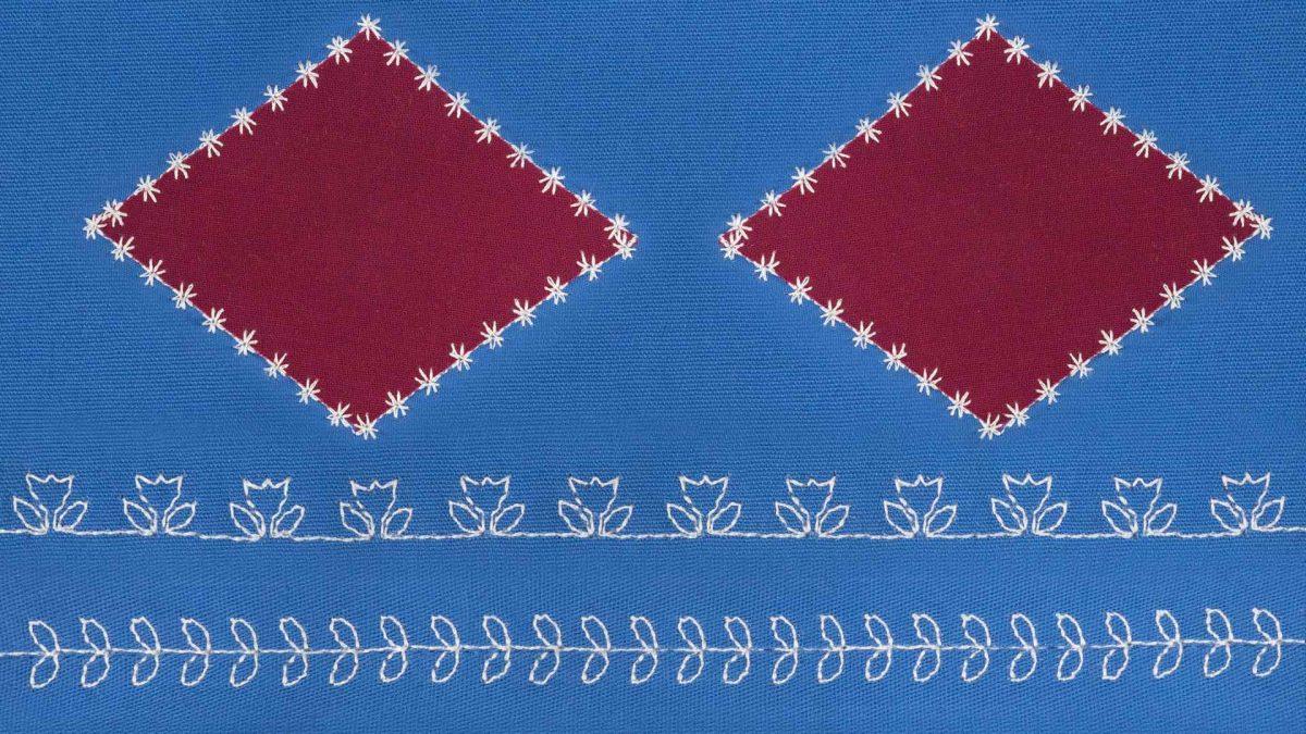 Machine decorative Stitching