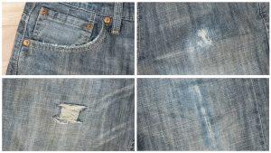 Distress Denim Jeans