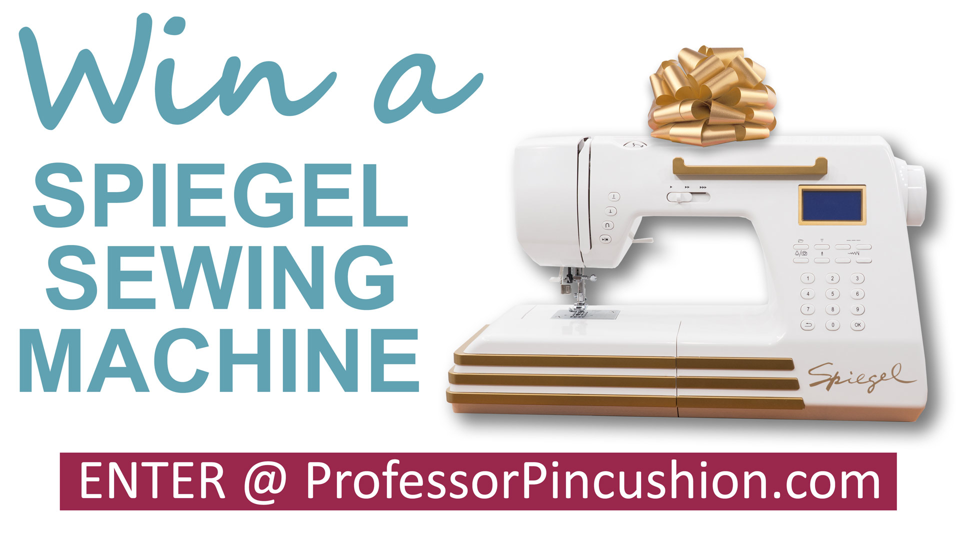 Spiegel sewing machine giveaway professor pincushion for Spiegel your name