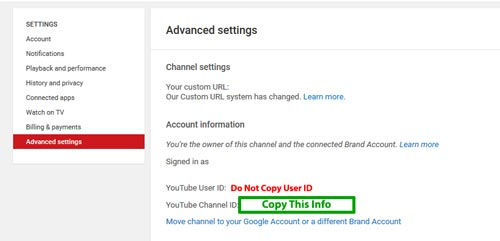 YouTube Sponsor Find Channel ID