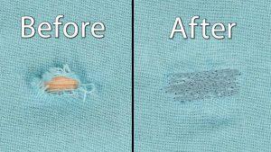 Machine Darning Woven Fabrics