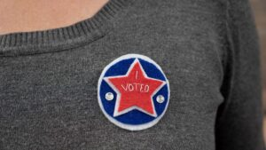 I Voted Pin Shirt