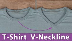 T-Shirt V Neckline Alteration