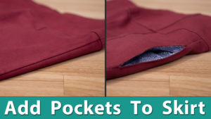 Add Pockets to A Skirt