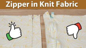 Knit Fabric Zipper
